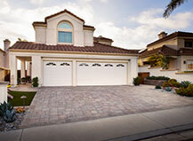 Warm-Tone Driveway Pavers With Border Accent