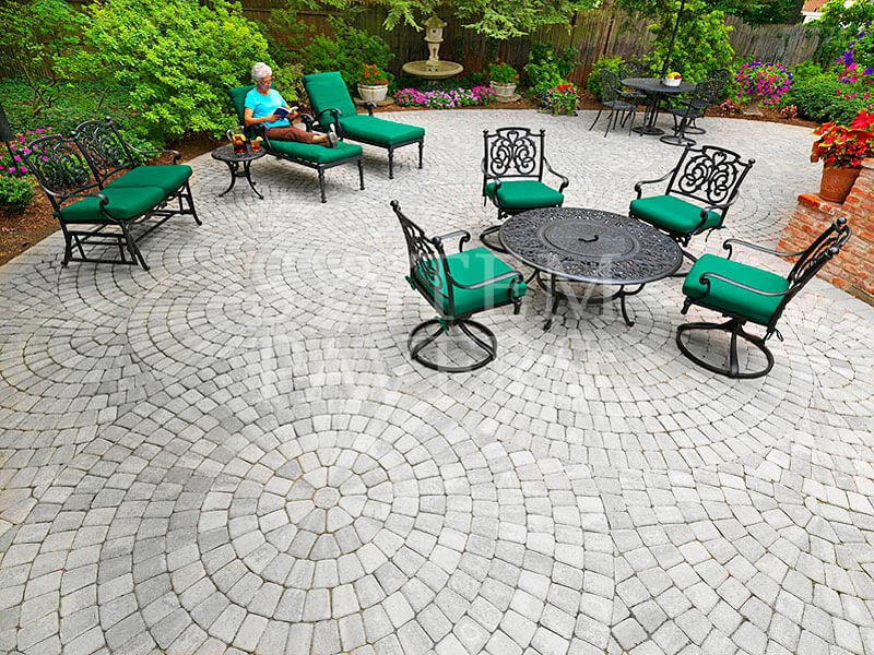Patio pavers backyard pavers elegant patio solutions for Different patio designs
