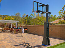 Backyard Basketball Paving Stone Ideas