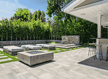 Contemporary Style Patio Pavers With Fireplace