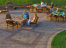 Custom Patio Paver Design With Seating