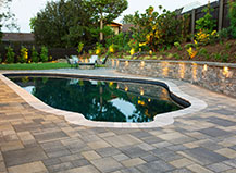 Contemporary Style Patio Pavers With Pool
