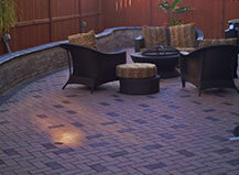 Traiditonal Dark Brown Patio Pavers