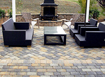 Contemporary Style Angled Patio Pavers