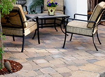 Traditional Mixed Stone Patio Pavers With Border