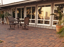 Traditional Style Soft Red Patio Pavers