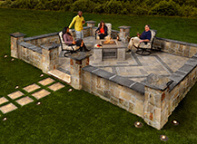 Traditional Natural Stone Patio Pavers With Firepit