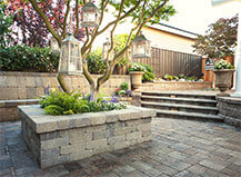 Traditional Light Colored Patio Pavers
