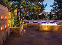 Natural Paver Patio And Firepit Ideas