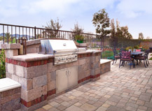 Traditonal Patio Pavers With Bbq Island