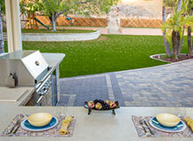 Paver Patio Al Fresco Dining