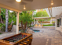 Traditional Style Patio Pavers With Game Area