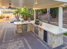 Custom Patio Pavers With Built In Bbq