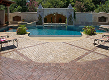 Pool Seeting Paver Walls Entryway Budagher