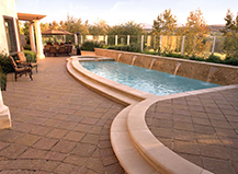 Backyard Pavers Poolside Waterfalls