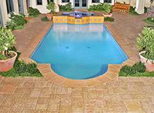 Custom Designed Light Brown Pool Pavers