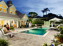 Natural Stone Pool Pavers With White Border