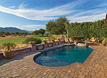 Stone Pool Pavers With Border