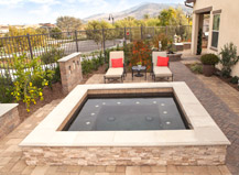 Paving Stone Pool Deck For Hot Tub