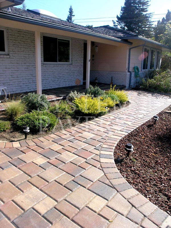 walkway designs for homes.  House Paver Lined Pathways Simple Red Walkway Design Pavers Front Garden Landscape Walkways