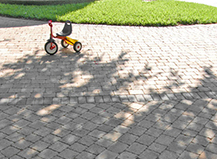 Pavers Merging From Two Pathways
