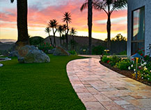 Natural Stone Side Yard Walkway Pavers