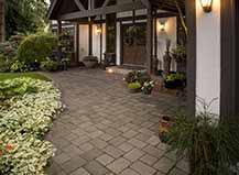 Paving Stone Front Yard Walkway