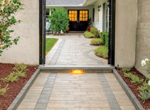 Natrual Stone Walkway With Grey Border