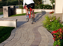 Multi-Colored Flowing Paver Design Ideas