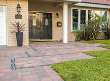 Dark Red Front Yard Walkway Pavers