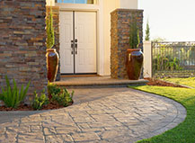 Natural Stone Front Yard Walkway Pavers With Border