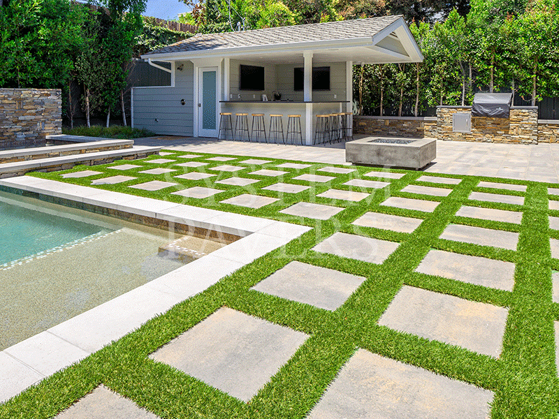 Residential Turf Installation Services System Pavers