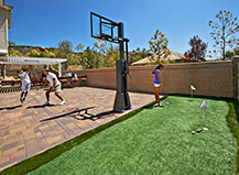 Putting Green With Outdoor Basketball Court