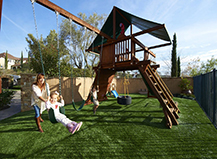 Backyard Turf With A Play Area