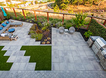 Artificial Turf Accent In Modern Patio Design
