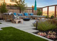 Artificial Turf Lawn In Backyard