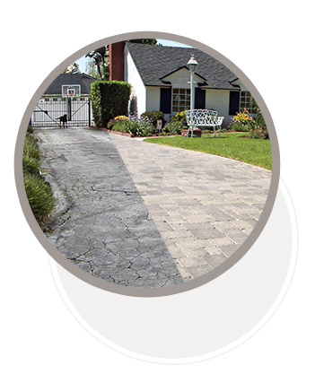 Before and After Paver Stones