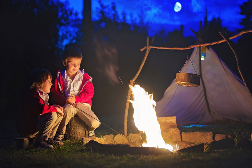 There's nothing quite as cozy as gathering around the outdoor fireplace for quality family time.