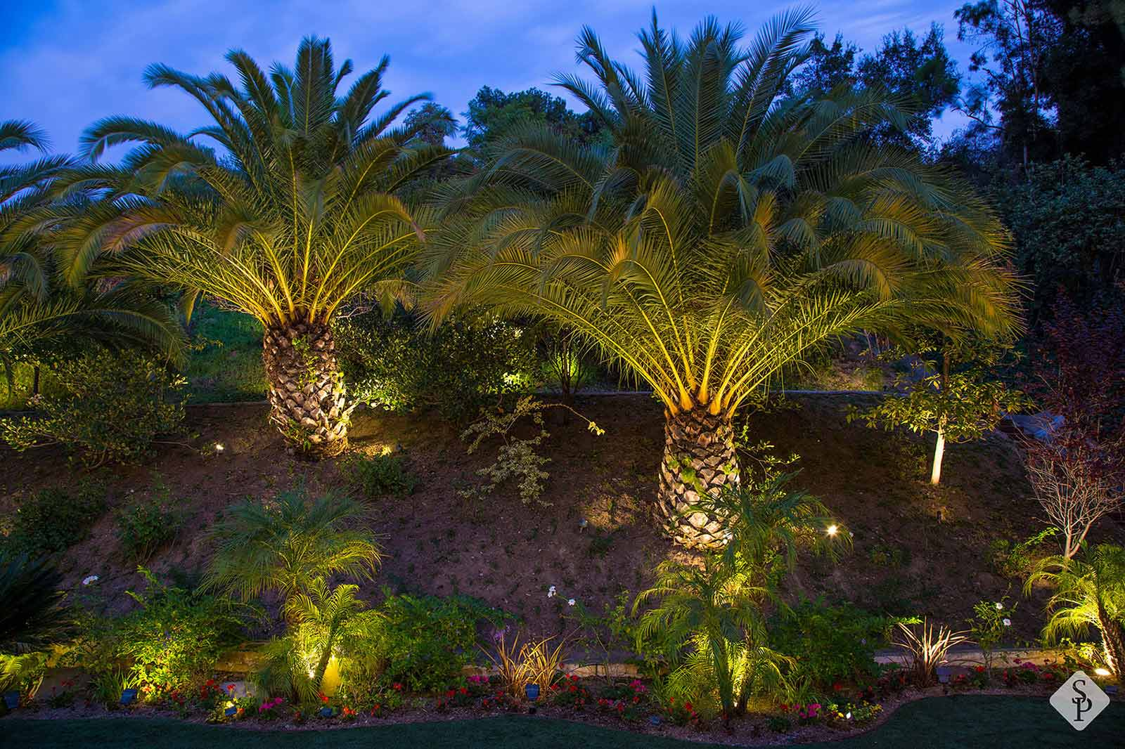 The importance of installing outdoor lighting here are just a few of many benefits to installing outdoor lighting around turf lawns among your landscaping and on paver patio aloadofball Gallery